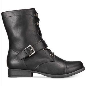 💝🎁 New Ladies Combat Booties Size 8 & 9 US Black